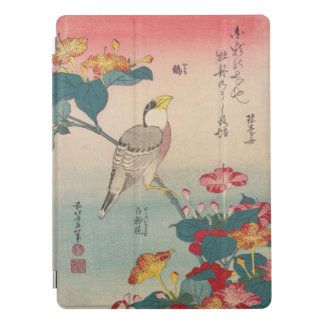 Hokusai Hawfinch and Marvel-of-Peru GalleryHD Art iPad Pro Cover