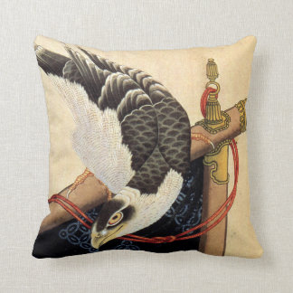 Hokusai Hawk Pillow
