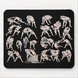 "Hokusai, ""HOKUSAI-MANGA-Sumo wrestling"" Mouse Pad"