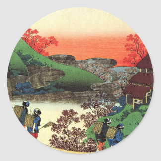 Hokusai - Japanese Art - Japan Classic Round Sticker