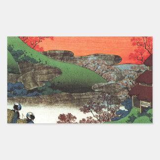 Hokusai - Japanese Art - Japan Rectangular Sticker