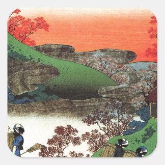 Hokusai - Japanese Art - Japan Square Sticker