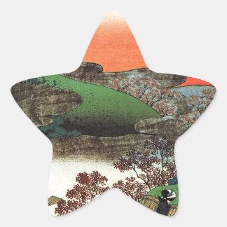 Hokusai - Japanese Art - Japan Star Sticker