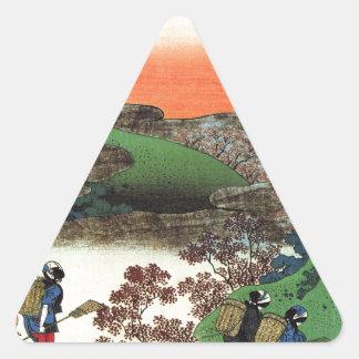 Hokusai - Japanese Art - Japan Triangle Sticker