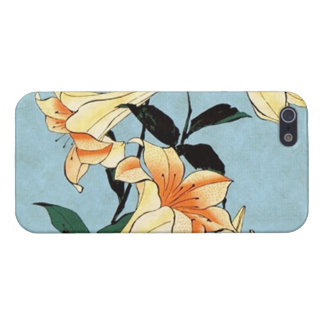 Hokusai Japanese Lilies iPhone 5 Case