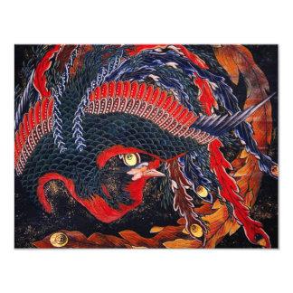 Hokusai Japanese Phoenix Invitations