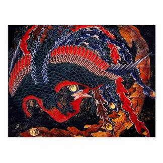 Hokusai Japanese Phoenix Postcard