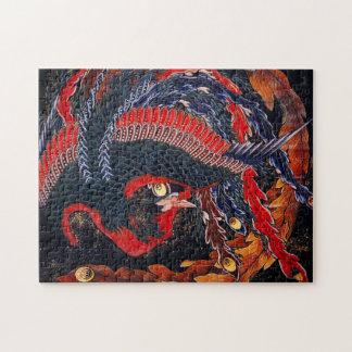 Hokusai Japanese Phoenix Puzzle