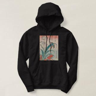 Hokusai Kingfisher Iris and Wild Pinks GalleryHD Hoodie