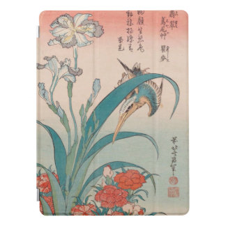 Hokusai Kingfisher Iris and Wild Pinks GalleryHD iPad Pro Cover
