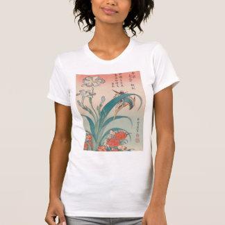 Hokusai Kingfisher Iris and Wild Pinks GalleryHD Shirt