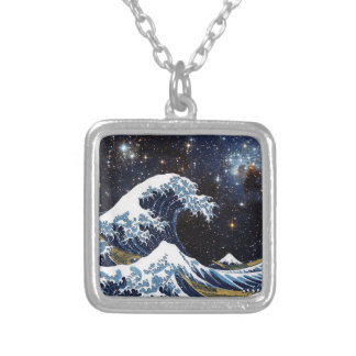 Hokusai & LH95 Silver Plated Necklace