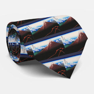 "Hokusai, ""Lightnings below the summit"" Tie"