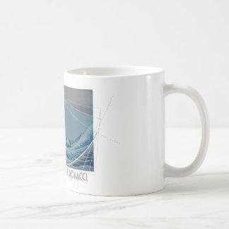 Hokusai Meets Fibonacci, Golden Ratio #2 Coffee Mug
