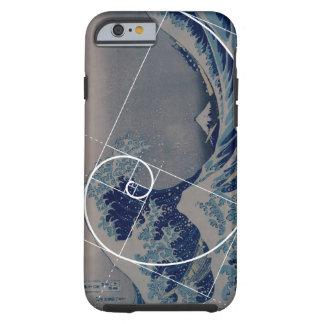 Hokusai Meets Fibonacci, Golden Ratio Tough iPhone 6 Case