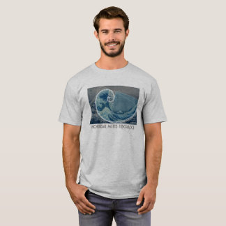 Hokusai Meets Fibonacci with Numerical Sequence T-Shirt