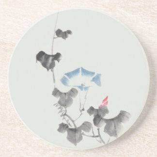Hokusai Morning Glory Blossom Fine Art Drink Coasters