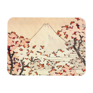 Hokusai Mount Fuji Cherry Blossoms Magnet
