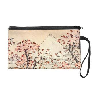 Hokusai Mount Fuji Cherry Blossoms Wristlet
