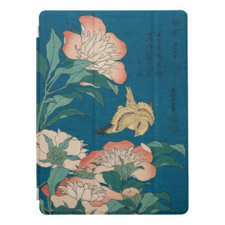 Hokusai Peonies and Canary Vintage Art GalleryHD iPad Pro Cover