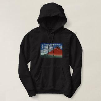 Hokusai Red Fuji, South Wind, Clear Sky GalleryHD Hoodie
