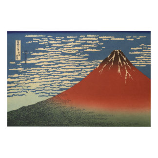 Hokusai Red Fuji, South Wind, Clear Sky GalleryHD Wood Canvas