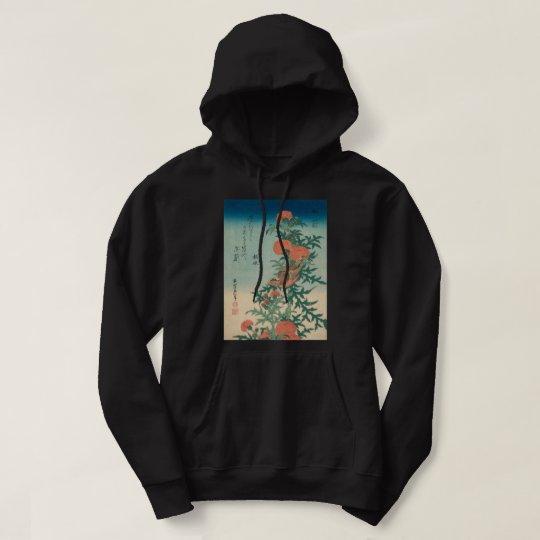 Hokusai Shrike and Blessed Thistle GalleryHD Art Hoodie