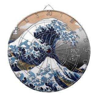 "Hokusai, ""The Great Wave OFF Kanagawa"" Dartboard"