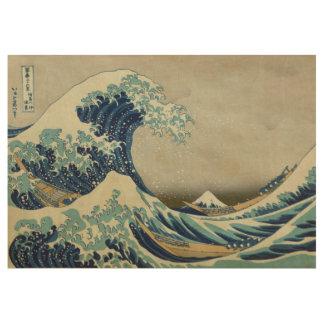 Hokusai The Great Wave off Kanagawa GalleryHD Wood Poster