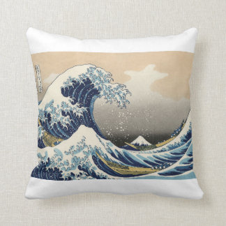 "HOKUSAI, ""The Great Wave OFF Kanagawa"" Throw Pillow"