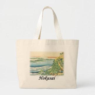 Hokusai - Travelers Climbing a Mountain Path Jumbo Tote Bag