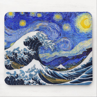 Hokusai & van Gogh Mouse Pad