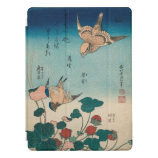 Hokusai Vintage Art Shrike and Bluebird GalleryHD iPad Pro Cover
