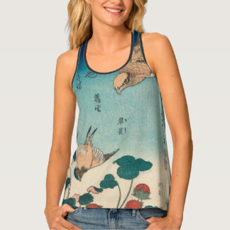 Hokusai Vintage Shrike and Bluebird GalleryHD Art Singlet