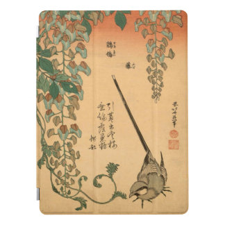 Hokusai Vintage Wisteria and Wagtail GalleryHD Art iPad Pro Cover