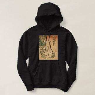 Hokusai Wisteria and Wagtail GalleryHD Vintage Art Hoodie