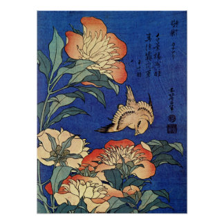 Hokusai's 'Flowers' Poster