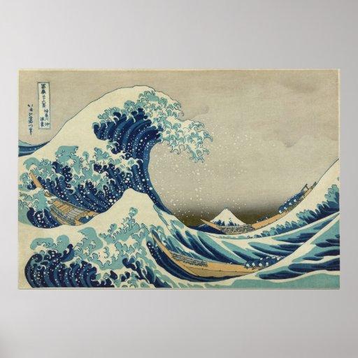 Hokusai's Great Wave off Kanagawa Posters