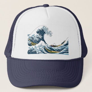 Hokusai's Great Wave off Kanagawa Trucker Hat