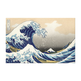 Hokusai's 'The Great Wave Off Kanagawa' Canvas