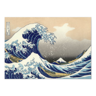 Hokusai's 'The Great Wave Off Kanagawa' Invitation
