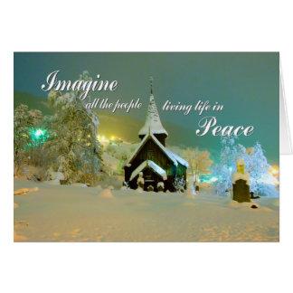 Hol Kirke Imagine Peace Holiday Card