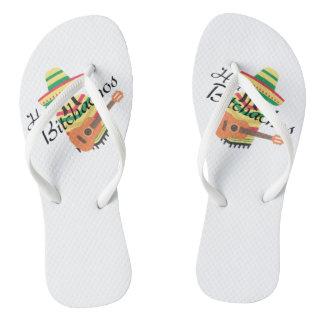 Hola Bitchachos Flip Flops