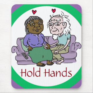 HOLD HANDS mousepad