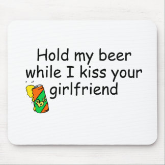 hold beer while kiss girlfriend bcaes