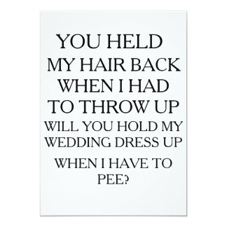 Hold My Dress UP While I Pee | BRIDAL PARTY Card