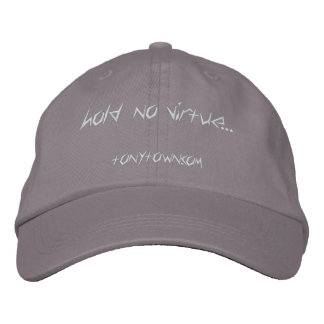 Hold No Virtue Cap (Gray) Embroidered Baseball Caps