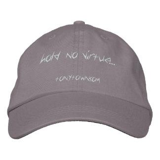 Hold No Virtue Cap (Gray) Embroidered Baseball Caps