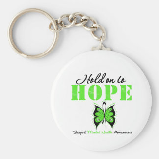 Hold on to Hope Mental Health Awareness Basic Round Button Key Ring