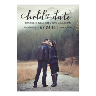 Hold the Date photo save the date card 13 Cm X 18 Cm Invitation Card